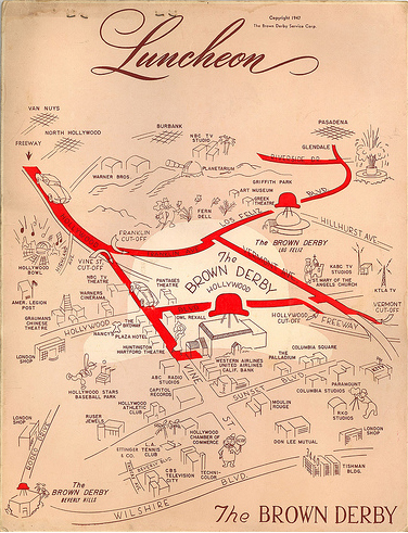 brown derby map